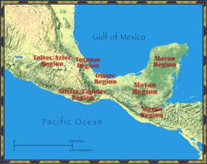 Mesoamerica Map, Mesoamerica