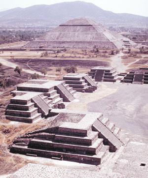 Teotihuacan, pyramids