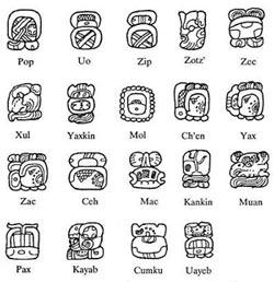 Mayan Haab Calendar Month Names