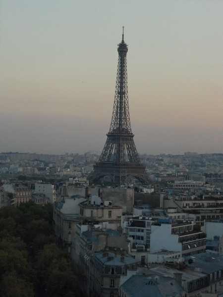 Eiffel Tower from Arc de Triomphe