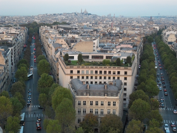Paris from Arc de Triomphe2
